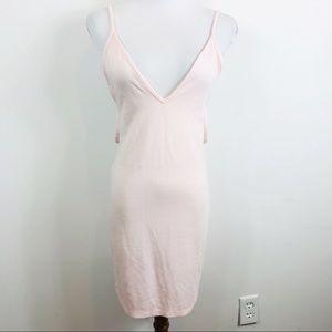 American Apparel pink peachy strapy bodycon